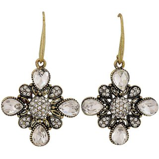 Maayra Shining Gold Kundan Casualwear Dangler Earrings