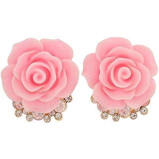 Maayra Cute Pink Indian Ethnic Cocktail Stud Earrings