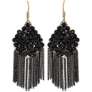 Maayra Cool Black Designer Get-Together Dangler Earrings