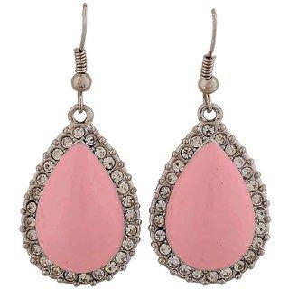 Maayra Sexy Pink Pearl Cocktail Dangler Earrings