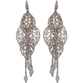 Maayra Terrific Silver Designer College Dangler Earrings