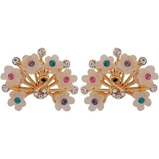 Maayra Bright Multicolour Designer College Stud Earrings