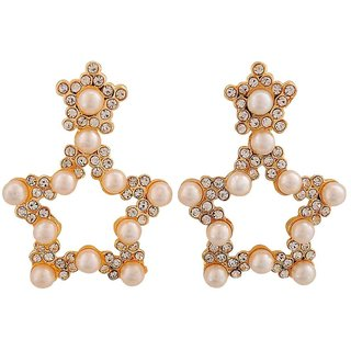 Maayra Suave White Pearl Get-Together Drop Earrings