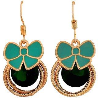 Maayra Sexy Green Designer Party Dangler Earrings