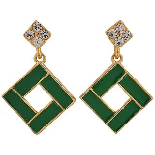 Maayra Classy Green Designer Casualwear Drop Earrings