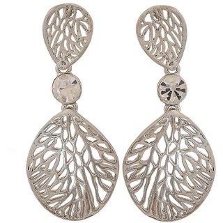 Maayra Awesome Silver Filigree Casualwear Drop Earrings