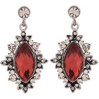 Maayra Smart Wine Kundan Cocktail Drop Earrings