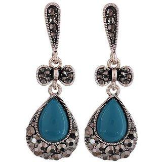 Maayra Lovable Blue Designer Casualwear Drop Earrings