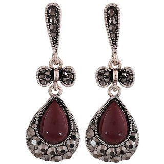 Maayra Gorgeous Maroon Designer Party Drop Earrings