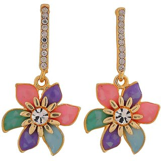 Maayra Great Multicolour Designer College Drop Earrings