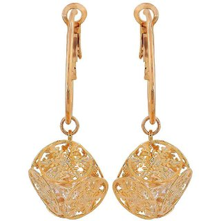 Maayra Superb Gold Designer College Hoop Earrings