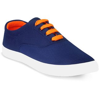 Adybird Men's Orange & Multicolor Lace-Up Casual Shoes