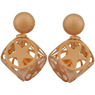 Maayra Lovable Bronze Designer Cocktail Stud Earrings