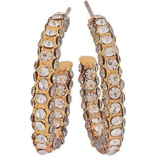 Maayra Gorgeous Gold Victorian Casualwear Drop Earrings