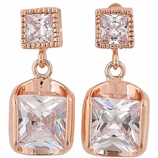 Maayra Great Bronze Stone Crystals Get-Together Drop Earrings
