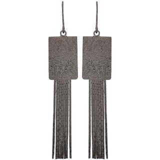 Maayra Beautiful Grey Designer Party Dangler Earrings