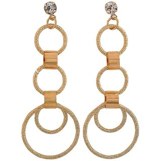 Maayra Posh Gold Designer College Drop Earrings