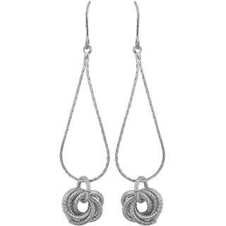 Maayra Sexy Silver Designer Cocktail Dangler Earrings
