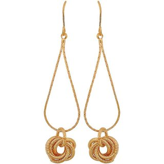Maayra Charming Gold Designer Casualwear Dangler Earrings