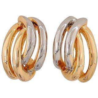 Maayra Sensual Gold Silver Designer Get-Together Stud Earrings