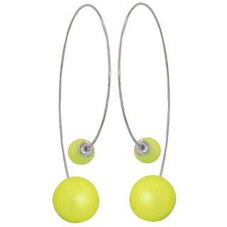 Maayra Plush Yellow Designer Casualwear Dangler Earrings