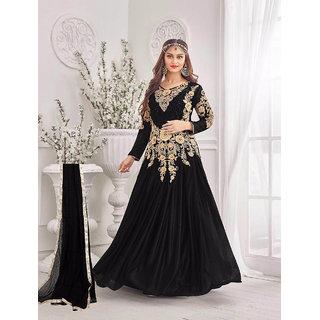 59b659eccba17 Buy Fabliva New Western Style Black Designer Heavy Embroidery Gown ...