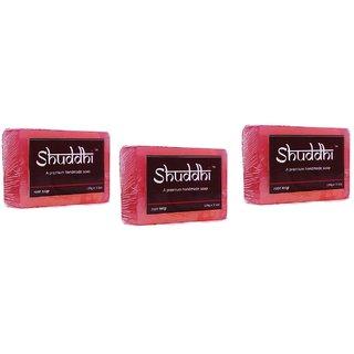 Shuddhi Herbal Handmade Rose Soap(pack of 3)