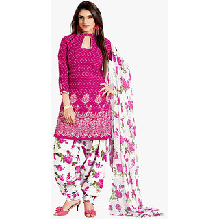 Women's Cotton Self Print Unstitched Kurti