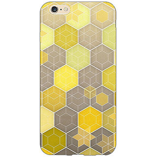 Jugaaduu Yellow Hexagons Pattern Back Cover Case For Apple iPhone 6S - J1080273