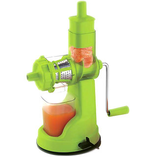 Jen Deluxe Green Plastic Fruit Juicer with Juice Collector