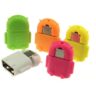 Snaptic Android Shaped Micro USB V8 OTG Connector Adapter