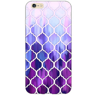 Jugaaduu White Purple Moroccan Tiles Pattern Back Cover Case For Apple iPhone 6S Plus - J1090297