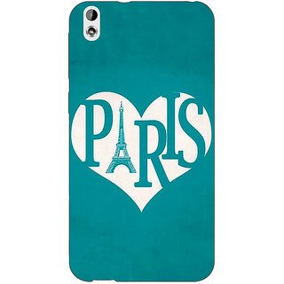 Jugaaduu Paris love Back Cover Case For HTC Desire 816 - J1051404