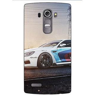 Jugaaduu Super Car BMW Back Cover Case For LG G4 - J1100626