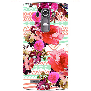 Jugaaduu Floral Pattern  Back Cover Case For LG G4 - J1100676