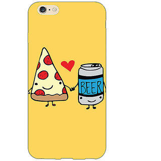 Jugaaduu Pizza Loves Beer Back Cover Case For Apple iPhone 6S Plus - J1091141