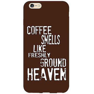 Jugaaduu Coffee Quote Back Cover Case For Apple iPhone 6S - J1081221