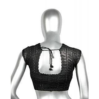 Classic Crochet Blouse in Black