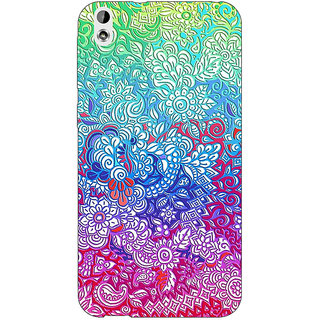 Jugaaduu Flower Gardens Pattern Back Cover Case For HTC Desire 816G - J1070249