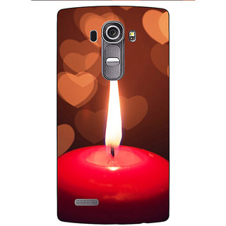 Jugaaduu Candle Light Romance Back Cover Case For LG G4 - J1100713