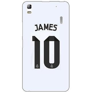 Jugaaduu Real Madrid James Rodriguez Back Cover Case For Lenovo K3 Note - J1120592