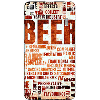 Jugaaduu Beer Quote Back Cover Case For Lenovo K3 Note - J1121242