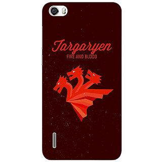 Jugaaduu Game Of Thrones GOT House Targaryen  Back Cover Case For Huawei Honor 6 - J860137