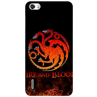 Jugaaduu Game Of Thrones GOT House Targaryen  Back Cover Case For Huawei Honor 6 - J860142