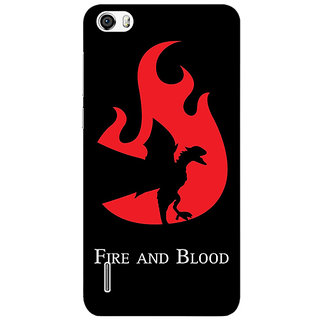 Jugaaduu Game Of Thrones GOT House Targaryen  Back Cover Case For Huawei Honor 6 - J860143