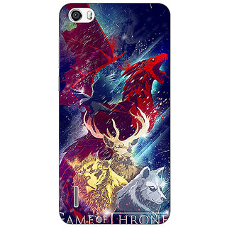 Jugaaduu Game Of Thrones GOT House Targaryen  Back Cover Case For Huawei Honor 6 - J860148