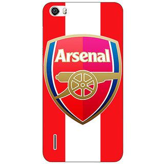 Jugaaduu Arsenal Back Cover Case For Huawei Honor 6 - J860509