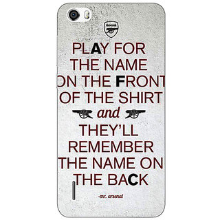 Jugaaduu Arsenal Back Cover Case For Huawei Honor 6 - J860512