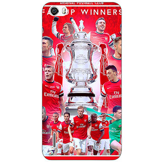 Jugaaduu Arsenal Back Cover Case For Huawei Honor 6 - J860516