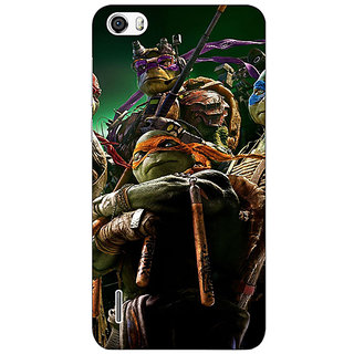 Jugaaduu Ninja Turtles Back Cover Case For Huawei Honor 6 - J860888